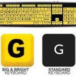 Big Letter Yellow Computer Keyboard