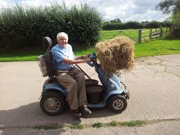 Farmer is dependent upon his TGA mobility scooter