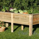 Raised garden planter bed