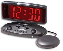 Wake and shake alarm clock