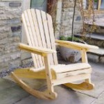 Garden or Patio Wooden Rocking Chair