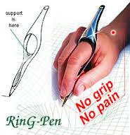 Ergonomic ring pen