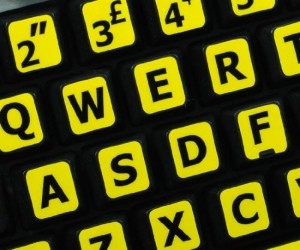 Large Size Stick On Keyboard Letters