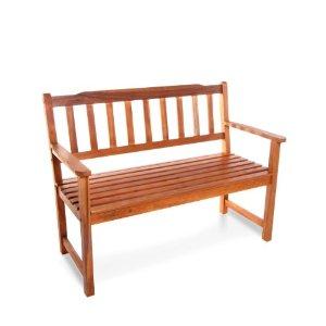 2 seater wooden garden seat