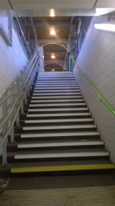 Berkhamsted station, the steps to the platform