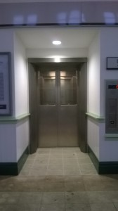 Entrance to a lift at Berkhamsted station