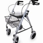 Lightweight folding rollator