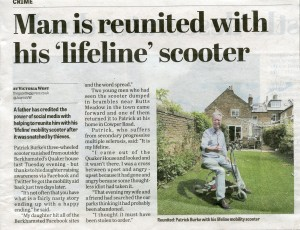 The article in the newspaper