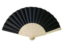 Wooden/fabric hand fan