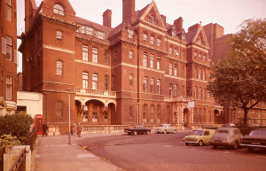 Queen Square and the National Hospital for Neurology and Neurosurgery in the 1960s.