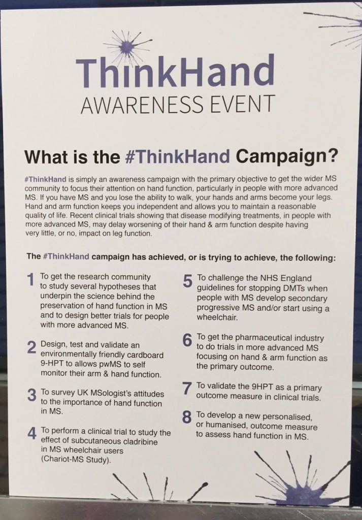 #ThinkHand Campaign for Advanced Multiple Sclerosis