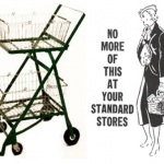 Walking round the supermarket with a trolley