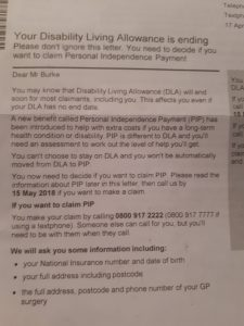 Your Disability Living Allowance is ending