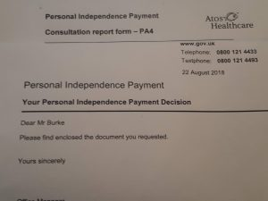 Assessment for my PIP benefits